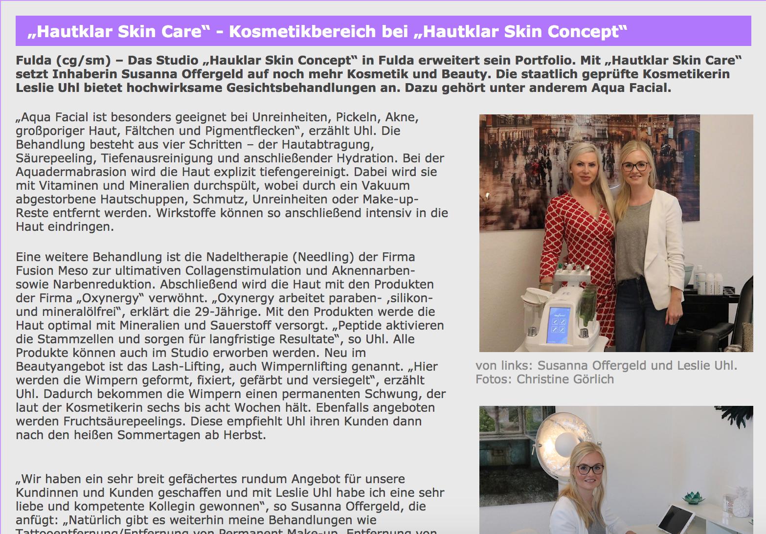 Bericht-presse-Hautklar-skin-Concept
